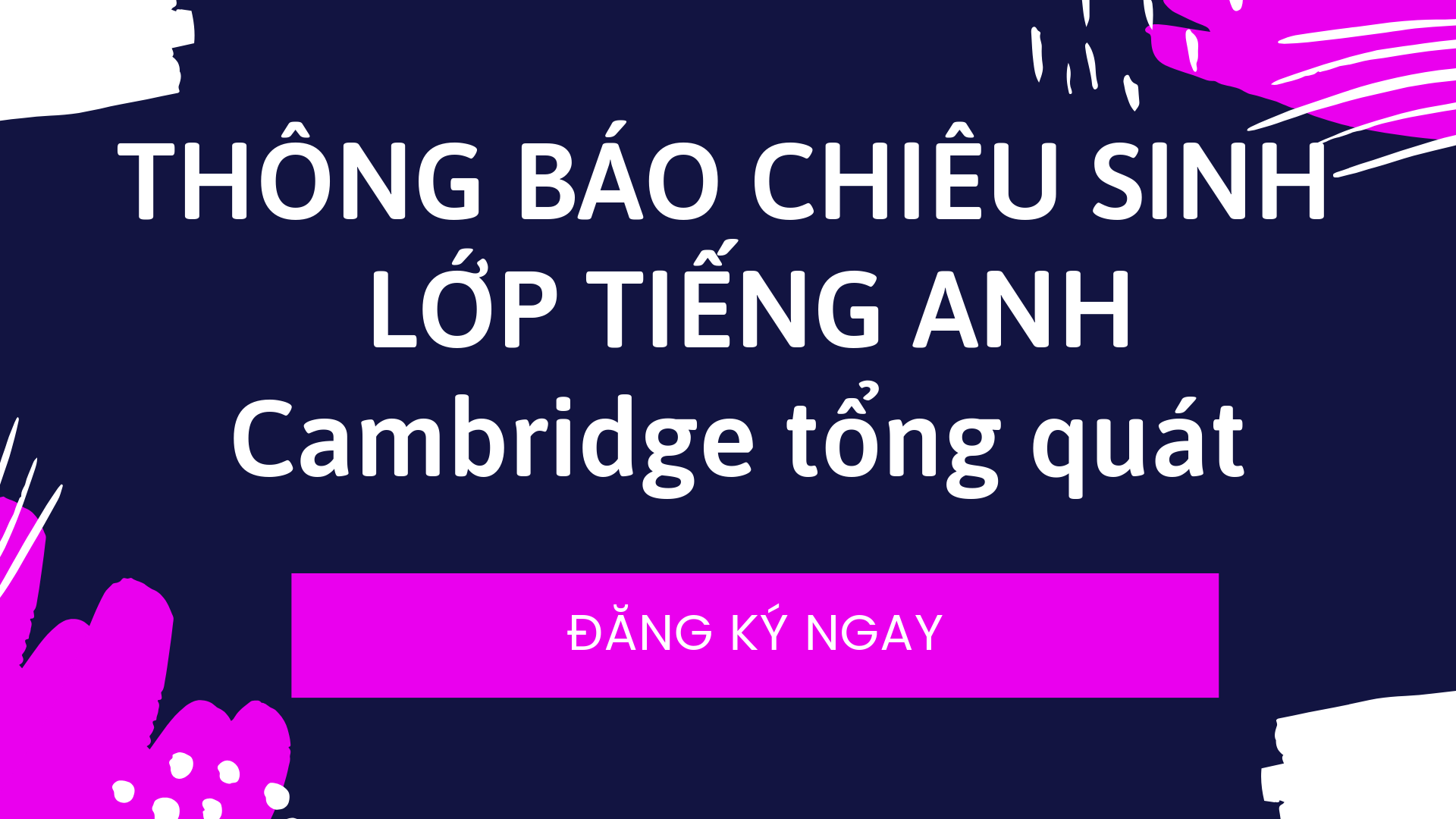 Chieu Sinh Lop Tieng Anh