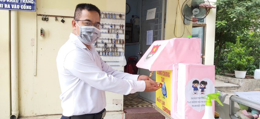 Trường Cao đẳng Bách khoa Nam Sài Gòn chủ động phòng chống Covid-19